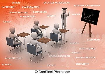 studerend , 3d, mensen