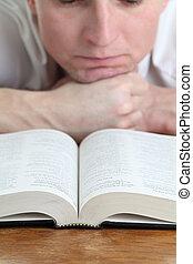 studerend , bijbel, man