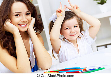 studerend , dochter, moeder