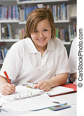 studerend , student, schrijvende