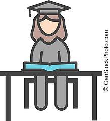 studerend , vrouwelijke student