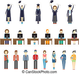 studerende, unge mennesker