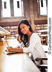 studiare, asiatico, studente
