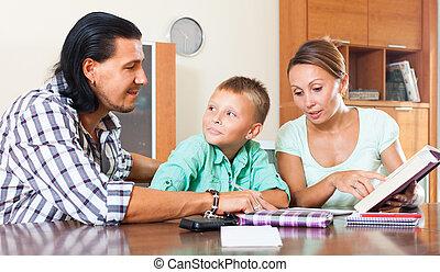 studiare, genitori, scolaro