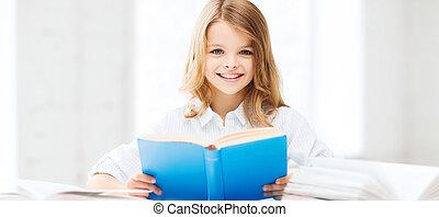 studiare, ragazza, alunno