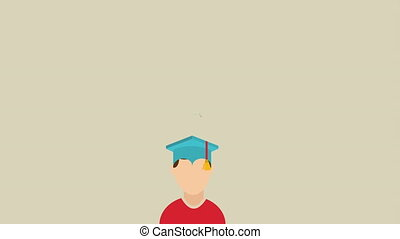 studienabschluss, design, video, animation