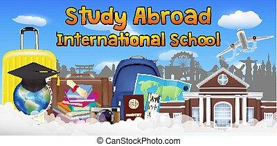 Schule Banner Sprache Plakat Schule Sprache Plakat