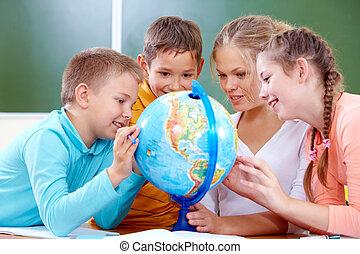 studieren, heraus, planet