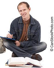 studieren, männlicher student