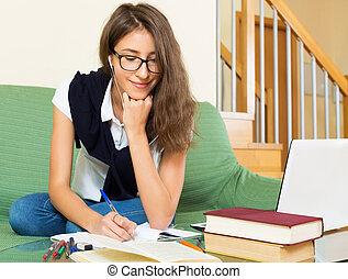 studieren, positiv, schueler, daheim