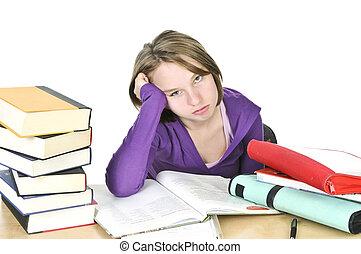 studieren, teenagermädchen