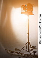 studio, éclairage