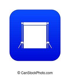 Studio backdrop icon digital blue