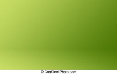 Studio Background Concept - Dark green gradient studio room background for product.