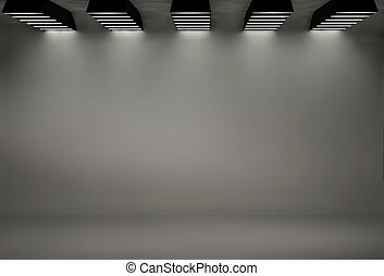 Studio background with five softboxes - Studio background...