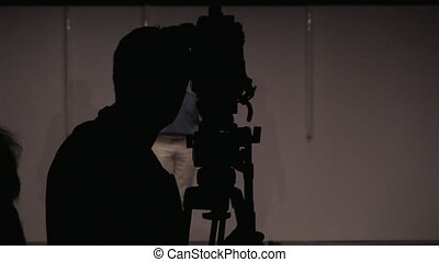 studio, cameraman, coup