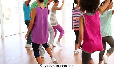 studio, classe, zumba, danse