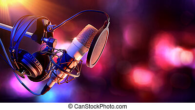 Studio condenser microphone and equipment live recording -...