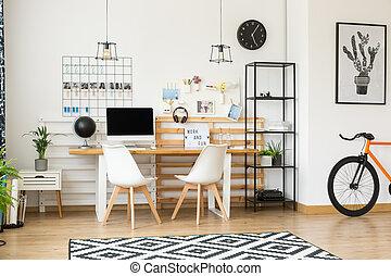 Studio design with modern computer