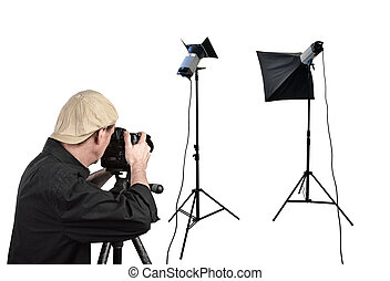 studio, equipement éclairage, photographe