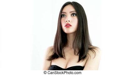 Studio fashion shot of Asian woman - Beautiful young asian...