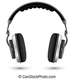 Studio headphones isolated on white background