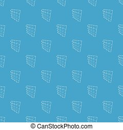 Studio insulation pattern vector seamless blue repeat for...