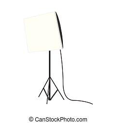 Studio lamp icon, cartoon style