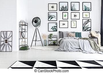 Studio lamp in bedroom