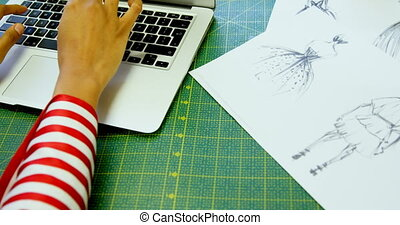 studio, laptop, gebrauchend, entwerfer, 4k, mode