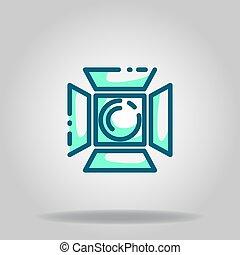 studio light icon or logo in  twotone - Logo or symbol of ...
