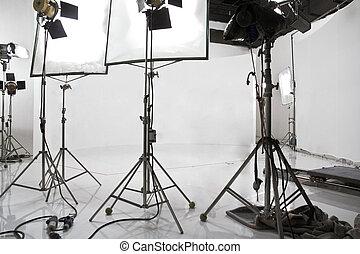 Studio lighting equipment background