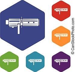 Studio lighting equipment icon, simple style - Studio ...