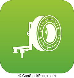 Studio lighting icon green vector