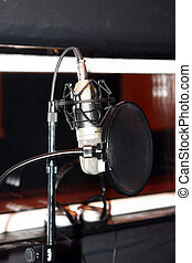 studio, microphone
