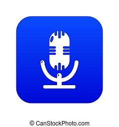 Studio microphone icon blue