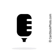 Studio microphone icon on white background.