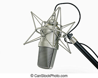 microphone - studio microphone isolated on a white...