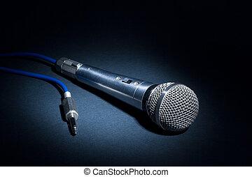 Studio microphone - Low-key of a recording studio microphone