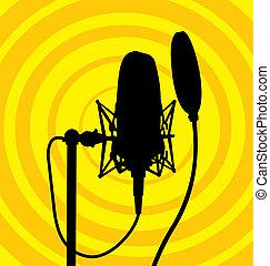 Studio microphone vector