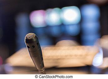 studio, mikrophon