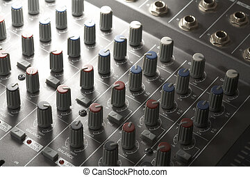 studio mixer detail