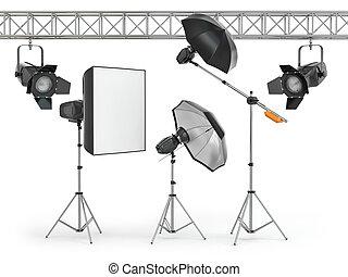 studio photo, équipement