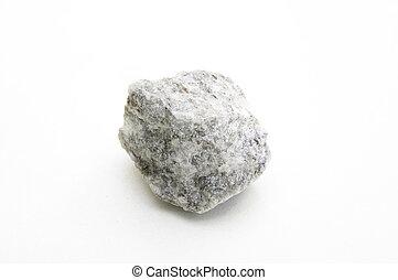 studio photo of white mica granite