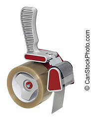 adhesive tape roller isolated on white - studio photography ...