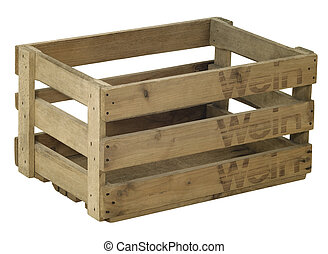 wooden wine crate - Studio photography of a wooden wine...