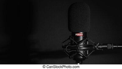 studio, podcasts, opname, microfoon