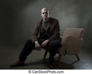 Studio portrait business man
