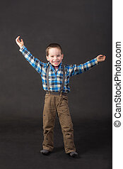 cheerful little boy