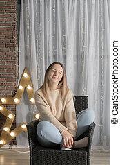studio portrait of a girl